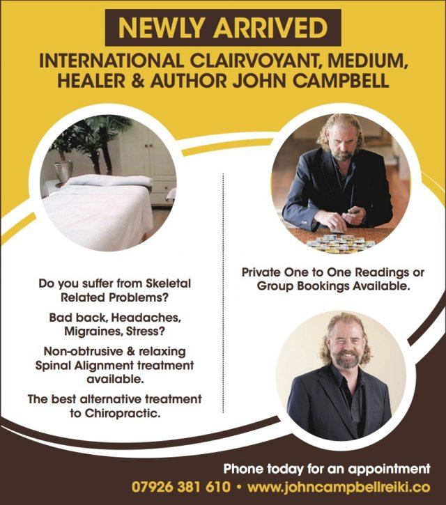 International Psychic Medium, Healer & Author… JohnCampbell.